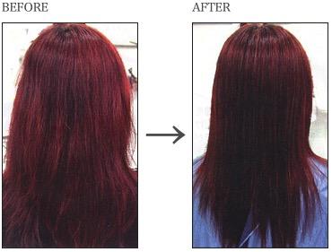 縮毛矯正リピーターのメンテナンス 髪表面と毛流れを整える